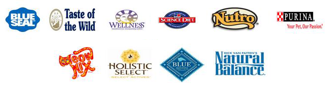 Our Cat food brands like Blue Seal, Taste of the Wild and more.