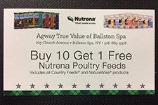 save with our poultry feed card